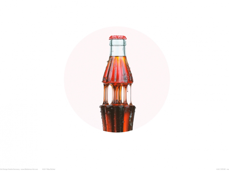 Coca-cola goo 3D visualisierung