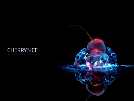 """Free Wallpaper """"Cherry and Ice"""""""